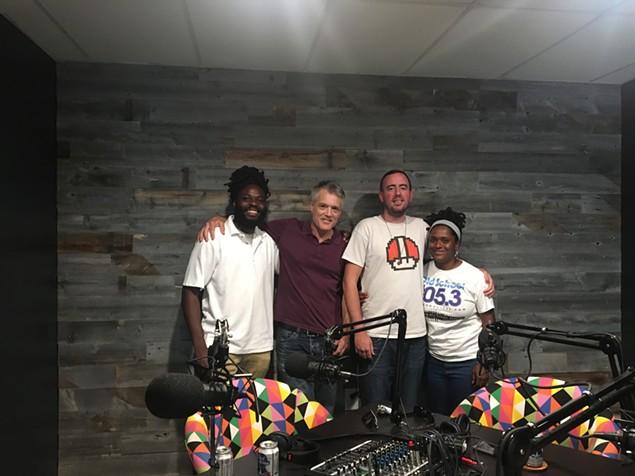 [From left] Black Linen, Mark Kemp, Ryan Pitkin and DJ SPK.