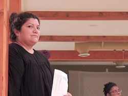 At a recent Educate to Engage meeting, amalia deloney looks on during a group exercise. (Photo by Ryan Pitkin)