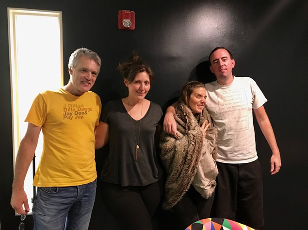 [From left] Mark Kemp, Sarah Blumenthal, Susan Plante and Ryan Pitkin.