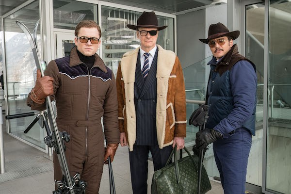 Taron Egerton, Colin Firth and Pedro Pascal in Kingsman: The Golden Circle (Photo: Fox)
