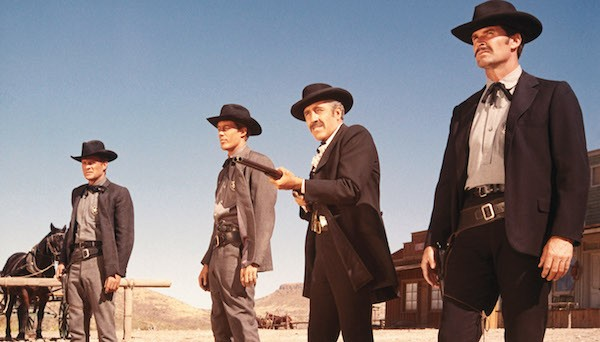 Sam Melville, Frank Converse, Jason Robards and James Garner in Hour of the Gun (Photo: Twilight Time)