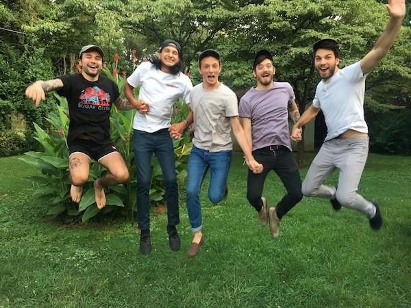 Cuzco [from left]: Dylan Robbins, Kevin Washburn, Will Schoonmaker, Matt McConomy and Arman Serdarevic. (Photo by Savannah Wood)