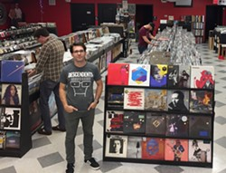 Wishart inside his shop on Descendents T-shirt Day. (Photo courtesy of Lunchbox)