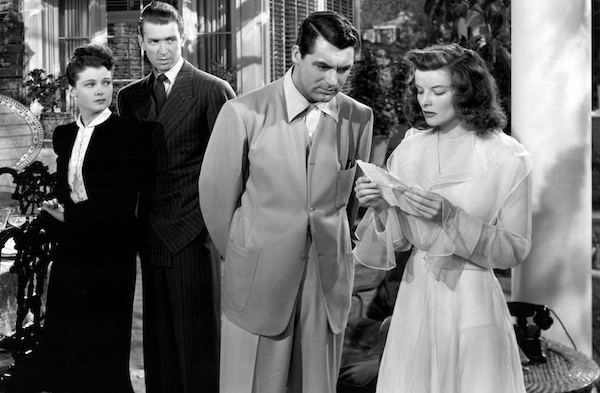 Ruth Hussey, James Stewart, Cary Grant and Katharine Hepburn in The Philadelphia Story (Photo: Criterion)