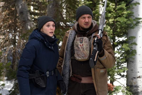 Elizabeth Olsen and Jeremy Renner in Wind River (Photo: Lionsgate)