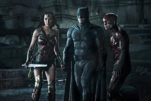 Gal Gadot, Ben Affleck and Ezra Miller in Justice League (Photo: Warner & DC)