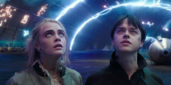 Cara Delevingne and Dane DeHaan in Valerian and the City of a Thousand Planets (Photo: Lionsgate)