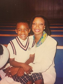 Jordan, at 5, with his biggest fan, his late mother LaFondra, on Easter Sunday 1998
