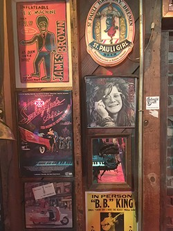Smokey Joe's inflatable sex machine poster and other memorabilia. (Photo by Pat Moran)