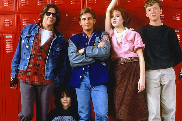 Judd Nelson, Ally Sheedy, Emilio Estevez, Molly Ringwald and Anthony Michael Hall in The Breakfast Club (Photo: Criterion)