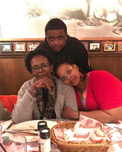 Rose, son Zion Christopher and mom Antoinette in recent years.