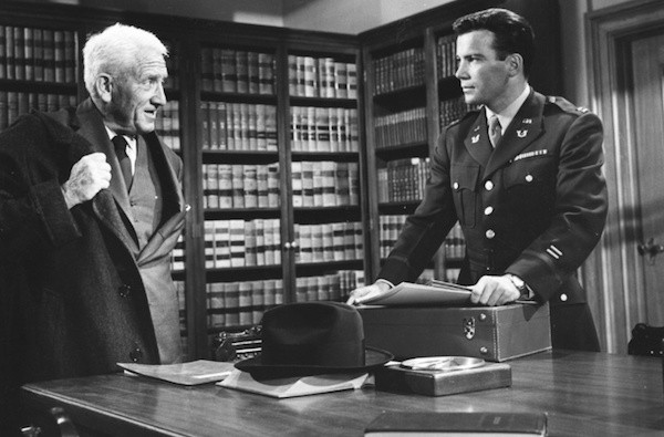 Spencer Tracy and William Shatner in Judgment at Nuremberg (Photo: Kino & MGM)