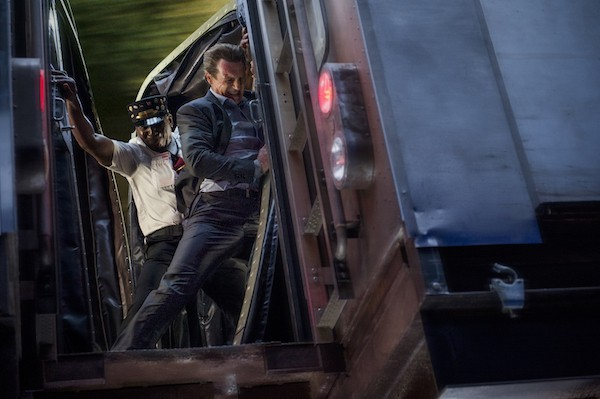 Colin McFarlane and Liam Neeson in The Commuter (Photo: Lionsgate)