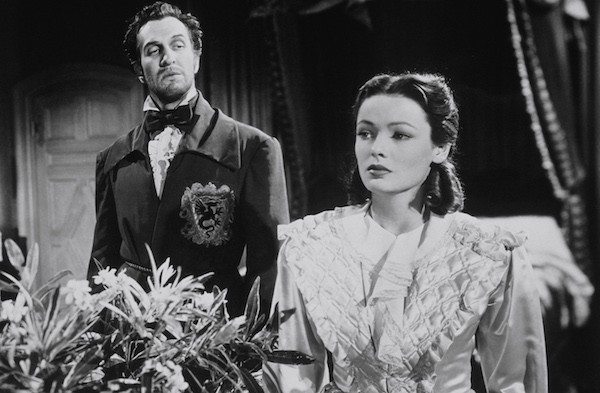 Vincent Price and Gene Tierney in Dragonwyck (Photo: Twilight Time)