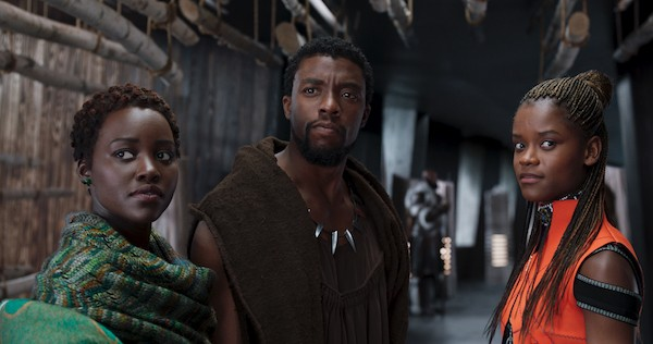Lupita Nyong'o, Chadwick Boseman and Letitia Wright in Black Panther (Photo: Marvel-Disney)