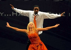 A young Dayleen Brown (with Taaryn Wilson) dances his way to the top, in 2009.