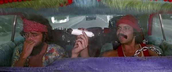Thomas Chong and Cheech Marin in Up in Smoke (Photo: Paramount)