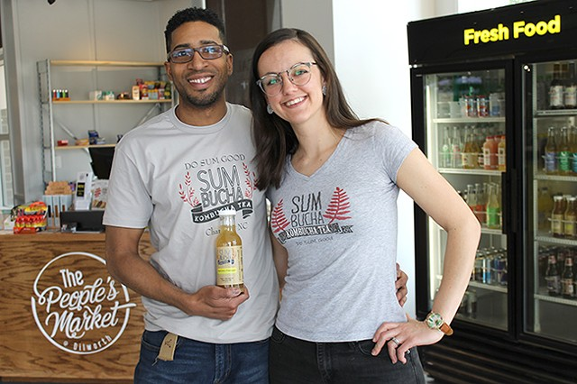 Alex [left] and Sarah North began brewing kombucha from home.