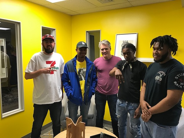 [From left] Ryan Pitkin, Fresco, Mark Kemp, Ahmir the King and Orpheus.