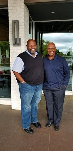 Ray with former Mayor Harvey Gantt.