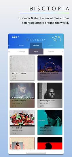 The Disctopia app