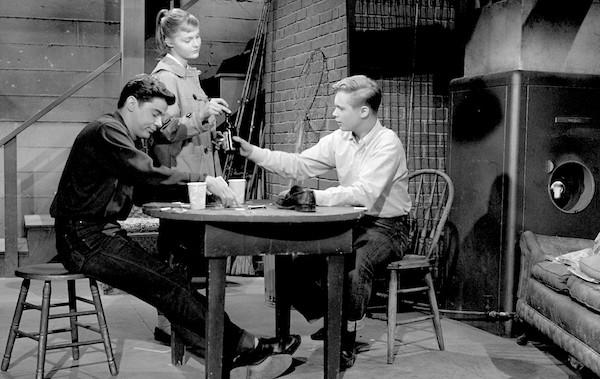 Warren Berlinger, Carol Lynley and Brandon de Wilde in Blue Denim (Photo: Twilight Time)