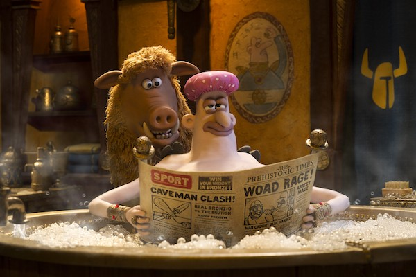 Hognob (Nick Park) and Nooth (Tom Hiddleston) in Early Man (Photo: Summit)
