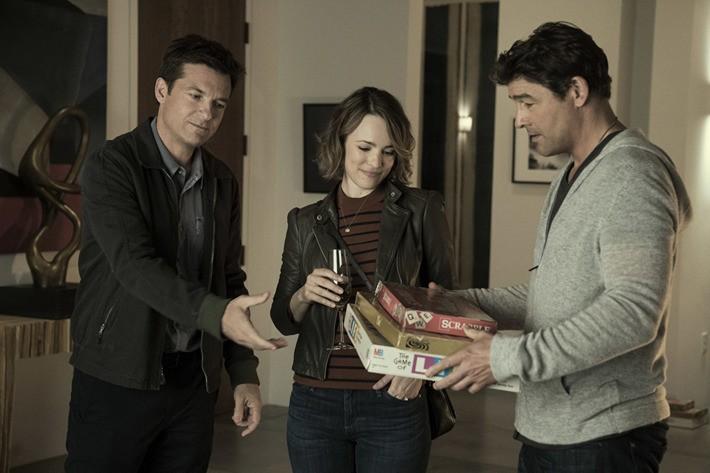 Jason Bateman, Rachel McAdams and Kyle Chandler in Game Night (Photo: Warner)