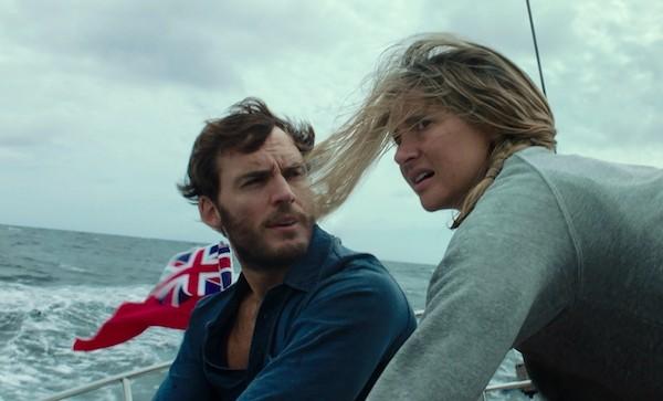 Sam Claflin and Shailene Woodley in Adrift (Photo: STX)