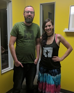 Ryan Pitkin (left) and Lisa De Novo