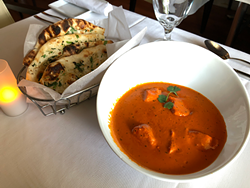 Copper is known for its modernized versions of Indian food, but classics like the murgh tikka masala or a side of naan are also available.