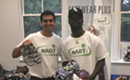 Panther's Donte Jackson & Naot Hand Out 150 Shoes to Local Domestic Abuse Organization