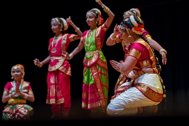 Dancers on stage performing for the festival (Photo by India Association of Charlotte)