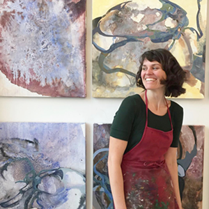 Katie St. Clair in her studio.
