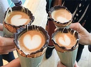 #CoffeeInACone