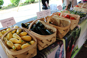 A selection of veggies at Rosa Parks Farmers Market. (Photo by Ryan Pitkin)