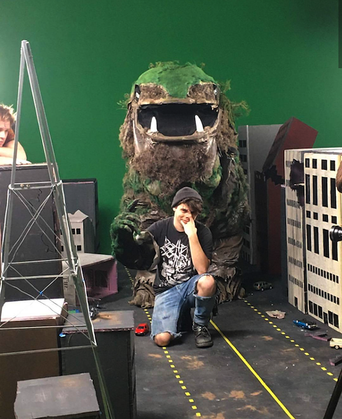 Greenberg and the Green Giant (Photo by Maryssa Pickett)