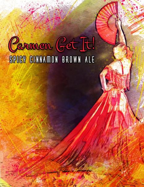 Carmen Get It! label. (Photo Courtesy of Opera Carolina)