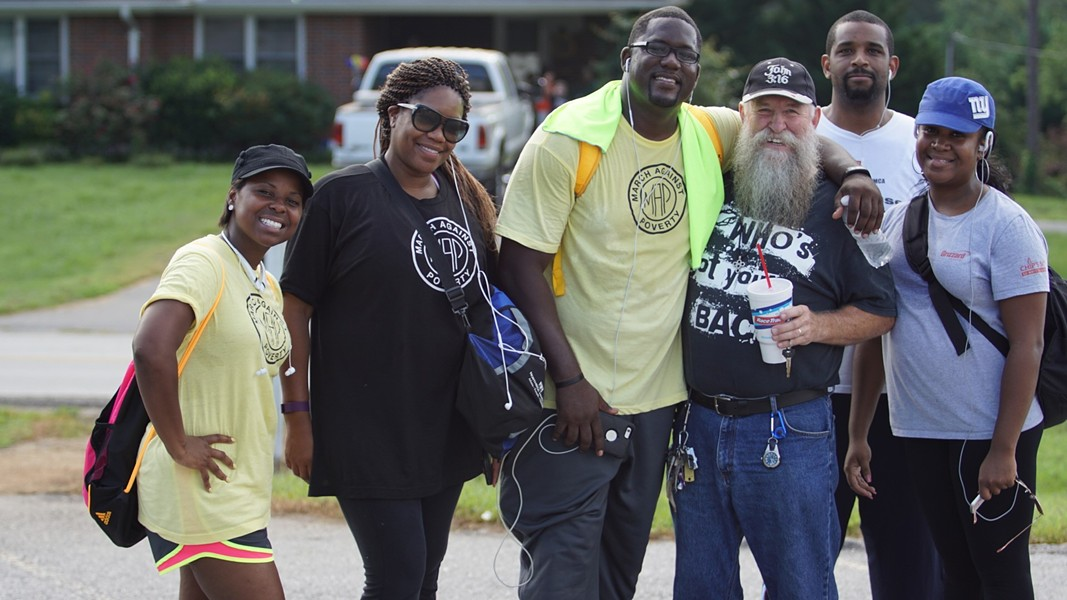The Love Beyond Walls team during the March Against Poverty.