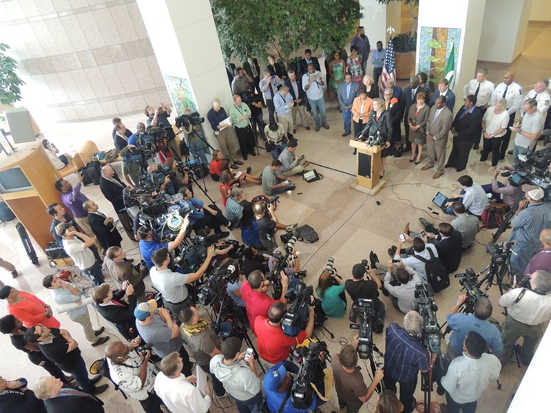 Jennifer Roberts addresses the media on Thursday, Sept. 22, following unrest in the city. - RYAN PITKIN