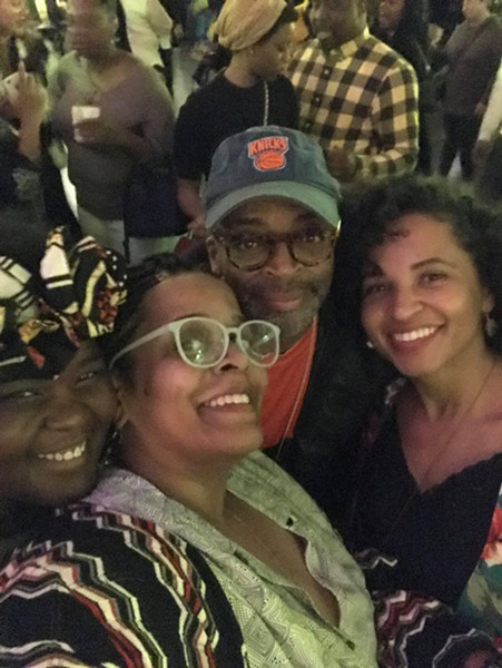 Rose with Spike Lee and friends.