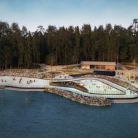 """U.S. National Whitewater Center Introduces 17,000 Sq Ft Ice Skating Rink With A """"Skate-Up Bar"""""""