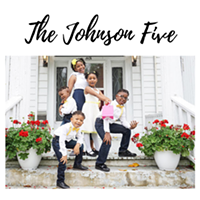 The Johnson children on their adoption day.