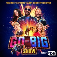Coming this Thursday to TBS: Bert Kreischer hosts Go-Big Show, the most extreme talent competition ever, with celebrity judges Snoop Dogg, Rosario Dawson, Jennifer Nettles and Cody Rhodes.