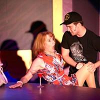 Josephine Hall and Grant Zavitkovsky in Cougar: The Musical.