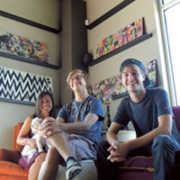 (From left) Kimie Silver, Vinny and Tyler Trierweiler at The Dirty Hippie.