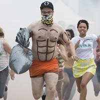 Chloë Grace Moretz (left) and Seth Rogen in Neighbors 2: Sorority Rising (Photo: Universal)