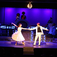 Susannah Upchurch as Stephanie Mangano and Rixey Terry as Tony Manero and in Theatre Charlotte's Saturday Night Fever. (Chris Timmons)
