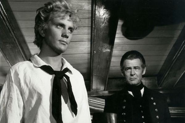 Terence Stamp and Robert Ryan in Billy Budd (Photo: Warner)