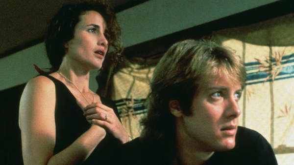 Andie MacDowell and James Spader in sex, lies, and videotape (Photo: Criterion)
